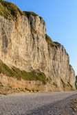 White Cliffs on Normandy Coast near Fecamp, France — Stock Photo
