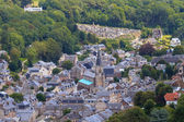 Aerial view of Yport Village on the Normandy Coast, Seine-Mariti — Stock Photo