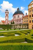 Palácio de jaromerice, Catedral e jardins no sul da Morávia, cz — Fotografia Stock