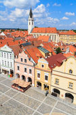 Historical city of Trebon (in German Wittingau), Czech Republic — Stock Photo
