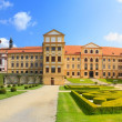 Jaromerice Palace, cathedral and gardens in Southern Moravia, Cz — Stock Photo