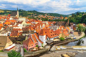 Cesky Krumlov Krumau, Czech Republic, Church of Saint Vitus — 图库照片