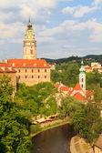 Cesky Krumlov Krumau, View on Castle und River — Stock Photo