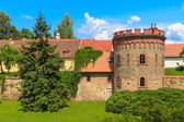 Old town fortification in Trebon (in German Wittingau), Czech Re — Stock Photo