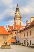 Cesky Krumlov Krumau, View on Castle Tower — Stock Photo