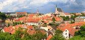 Cesky Krumlov, Krumau Panorama, UNESCO World Heritage Site — Stock Photo