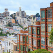 Typical San Francisco Neighborhood, California — Stock fotografie