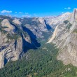 Yosemite Valley Panorama with Half Dome, California — Stock Photo