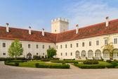Enns Castle and Garden, Upper Austria — Stock Photo