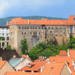 Cesky Krumlov, Krumau Castle Panorama, UNESCO World Heritage Site — Stock Photo