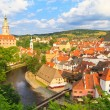 Cesky Krumlov, Krumau, View on Castle Tower, UNESCO World Herit — Stock Photo