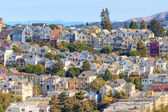 Typical San Francisco Neighborhood, California — Zdjęcie stockowe