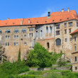 Cesky Krumlov, Krumau castle and tower, UNESCO World Heritage Site — Stock Photo