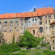 Cesky Krumlov, Krumau castle and tower, UNESCO World Heritage Site — Stock Photo #35567213