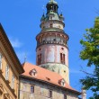 Cesky Krumlov, Krumau castle and tower, UNESCO World Heritage Site — Stock Photo #35567365