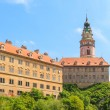 Cesky Krumlov, Krumau castle and tower, UNESCO World Heritage Site — Stock Photo #35567591