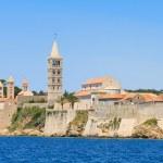 Croatian island of Rab, view on city and fortifications, Croatia — Stock Photo #35569441