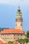 Cesky Krumlov, Krumau, View on Castle Tower, UNESCO World Herit — Stock Photo