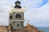 San Juan, Lighthouse at Fort San Felipe del Morro, Puerto Rico — Stock Photo