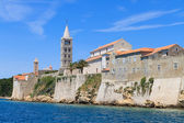 Croatian island of Rab, view on city and fortifications, Croatia — Stock Photo