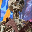Skeleton at a amusement park ghost train — Stock Photo