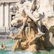 Rome, Fontana del Moro on Piazza Navona — Stock Photo