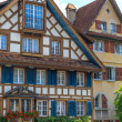 Stock Photo: Typical Swiss Timbered Houses