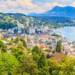 Stock Photo: Luzern, City View from city walls with lake