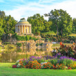 Park of Esterhazy Palace, Leopoldina Temple — Stock Photo