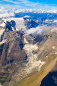 Glacier at Grossglockner massif aerial view — Stock Photo