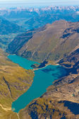 Kaprun reservoir lake aerial view, Austria — Stock Photo