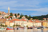 Mali Losinj waterfront and harbor, Island of Losinj, Dalmatia, C — Stock Photo