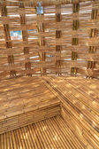 Bamboo Construction Interior View — Stock Photo