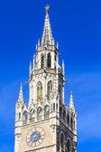 Munich, Gothic City Hall Facade Details, Bavaria, Germany — Stock Photo