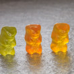Three Gummy Bears in a row — Stock Photo #42247947