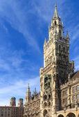 Münih, gotik belediye binası'nda marienplatz, bavyera, almanya — Stok fotoğraf