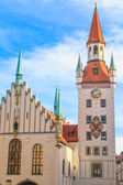 Munich, Old Town Hall with Tower, Bavaria, Germany — Stock Photo