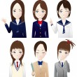 High school students - Stock Vector