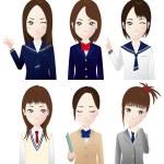 High school students — Stock Vector #13572661