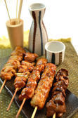 Char-broiled chicken yakitori — Stock Photo