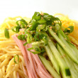 Chilled summer noodles — Stock Photo