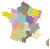 Карта Франции — Cтоковый вектор