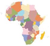 карта африки — Cтоковый вектор