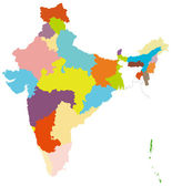 Map of India — Stock Vector