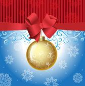 Сhristmas ball,bow,new, year, snowflake — Stock Vector