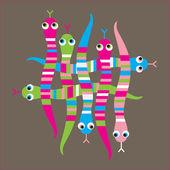 Woven, snake,stripes — Stock Vector