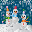 Merry christmas snowman - Stock Vector