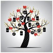 Tree sales — Stock Vector