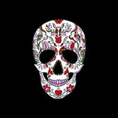 Halloween. Sugar Skull — Vector de stock