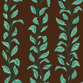 矢量树叶花纹无缝 — 图库矢量图片